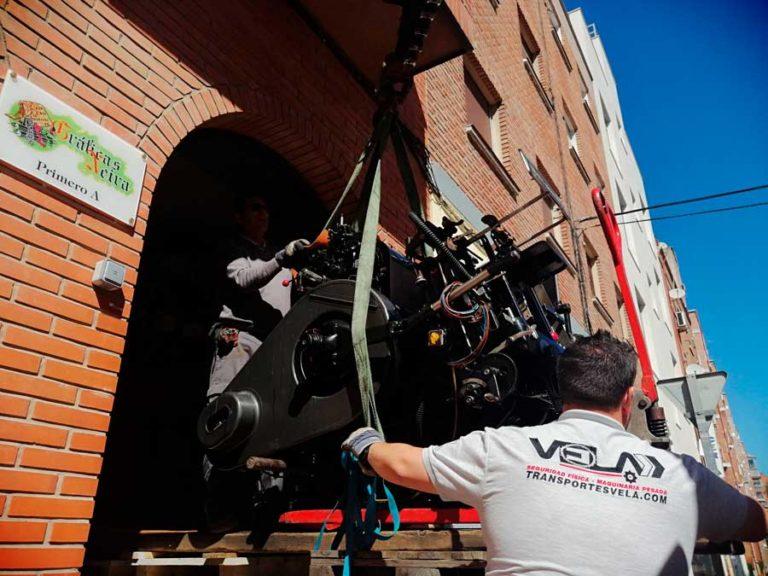 Traslado de maquinaria y objetos pesados en Madrid