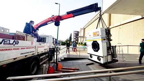 Transporte de Lavadora Industrial en Móstoles