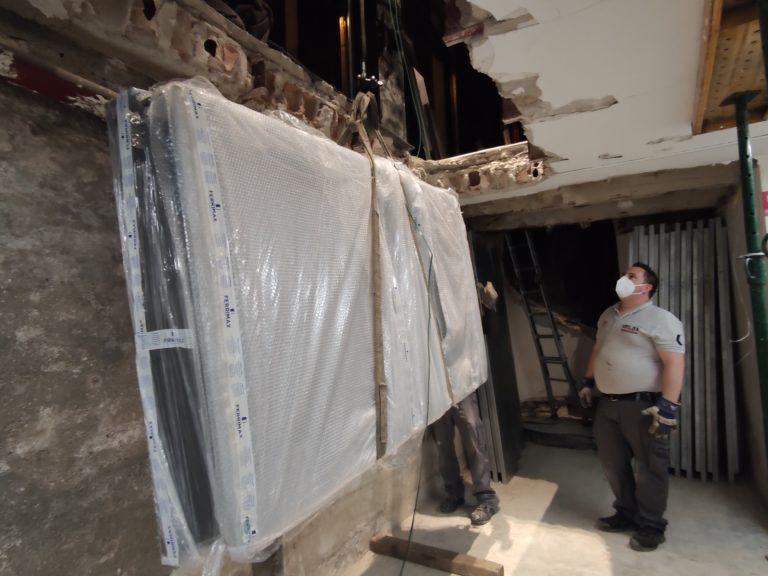 Traslado y montaje de cámara acorazada en Móstoles