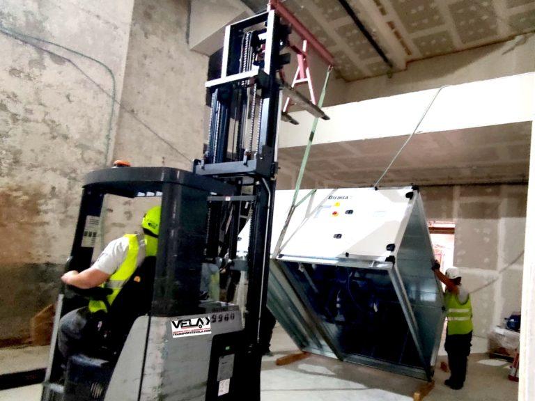Transporte de Máquina de Climatización en Toledo